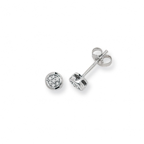 Diamond Stud Earrings 0.06ct, 9k White Gold