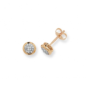 Diamond Stud Earrings 0.11ct, 9k Gold