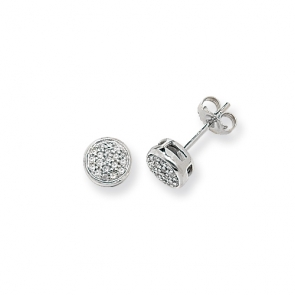 Diamond Stud Earrings 0.17ct, 9k White Gold