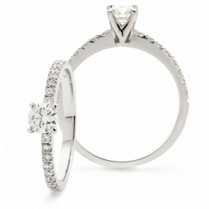 Diamond Engagement Ring 0.50ct, 18k White Gold