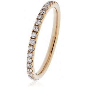 Petite Diamond Full Eternity Ring 0.40ct, 18k Rose Gold