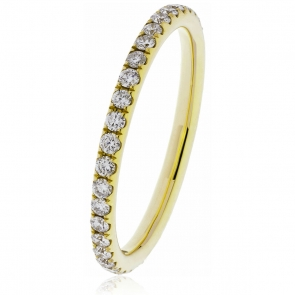 Petite Diamond Full Eternity Ring 0.40ct, 18k Gold