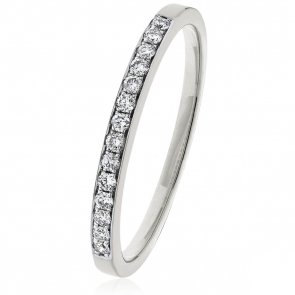 Diamond Half Eternity Ring 0.20ct in Platinum