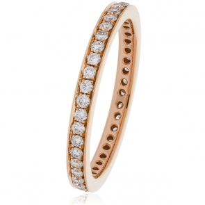 Diamond Full Eternity Ring 0.45ct, 18k Rose Gold