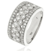 Diamond Pave Dress Ring 1.00ct, 18k White Gold