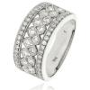 Diamond Pave Dress Ring 1.00ct, 18k White Gold