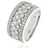 Diamond Pave Dress Ring 1.00ct, Platinum