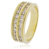 Diamond Half Eternity Ring 0.75ct, 18k Gold