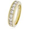 Diamond Princess Half Eternity Ring 1.50ct, 18k Gold