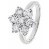 Diamond Cluster Seven Stone Ring 1.60ct, 18k White Gold