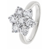 Diamond Seven Stone Cluster Ring 2.00ct, 18k White Gold