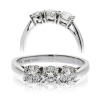 Classic Diamond Trilogy Ring 0.75ct, 18k White Gold