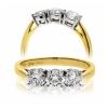 Classic Diamond Trilogy Ring 0.75ct, 18k Gold