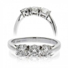 Classic Diamond Trilogy Ring 0.60ct, 18k White Gold