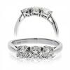 Classic Diamond Trilogy Ring 0.60ct, 18k White Gold