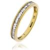 Diamond Baguette Half Eternity Ring 0.25ct, 18k Gold
