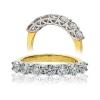Diamond Half Eternity 7 Stone Ring 0.50ct, 18k Gold