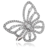 Diamond Pave Butterfly Ring 0.90ct, 950 Platinum