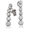 Diamond Rubover Drop Earrings 1.20ct, 18k White Gold