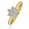 Diamond Seven Stone Cluster Ring 0.50ct, 18k Gold