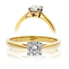 Diamond Solitaire Engagement Ring 0.20ct, 18k Gold