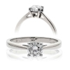 Diamond Solitaire Engagement Ring 0.70ct, 18k White Gold