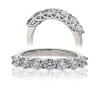 Diamond Half Eternity 7 Stone Ring 0.50ct, 18k White Gold