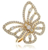 Diamond Pave Butterfly Ring 0.90ct, 18k Gold