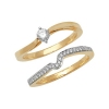 Diamond Wave Bridal Ring Set 0.34ct, 9k Gold