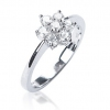 Diamond Seven Stone Cluster Ring 0.50ct, 18k White Gold
