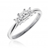 Diamond Princess Trilogy Ring 0.50ct, 18k White Gold