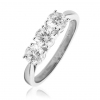 Classic Diamond Trilogy Ring 1.20ct, 18k White Gold