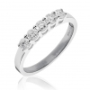 Diamond 5 Stone Ring 0.60ct, 18k White Gold
