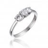 Diamond Three Stone Trilogy Ring 0.50ct in Platinum