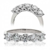 Five Stone Diamond Ring 1.00ct, 18k White Gold