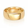 7mm Wedding Ring Traditional Court Shape, 18k Gold, Medium