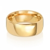 8mm Wedding Ring Traditional Court Shape, 18k Gold, Medium