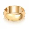 8mm Wedding Ring D-Shape 9k Gold, Medium