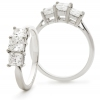 Diamond Princess Trilogy Ring 1.30ct, Platinum