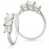Diamond Princess Trilogy Ring 1.30ct, Platinum