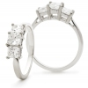 Diamond Princess Trilogy 1.30ct, 18k White Gold