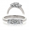 Diamond Three Stone Trilogy Ring 0.75ct in Platinum
