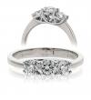 Diamond Three Stone Trilogy Ring 0.75ct in Platinum