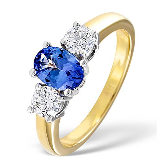 Diamond and Tanzanite Ring 18k Gold