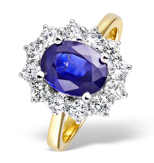 Diamond and Tanzanite Ring 1.00ct 18k Gold