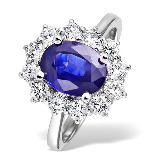 Diamond and Tanzanite Ring 1.00ct 18k White Gold