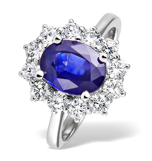 diamond and tanzanite ring 18k white gold gemstone engagement rings gemstone rings. Black Bedroom Furniture Sets. Home Design Ideas