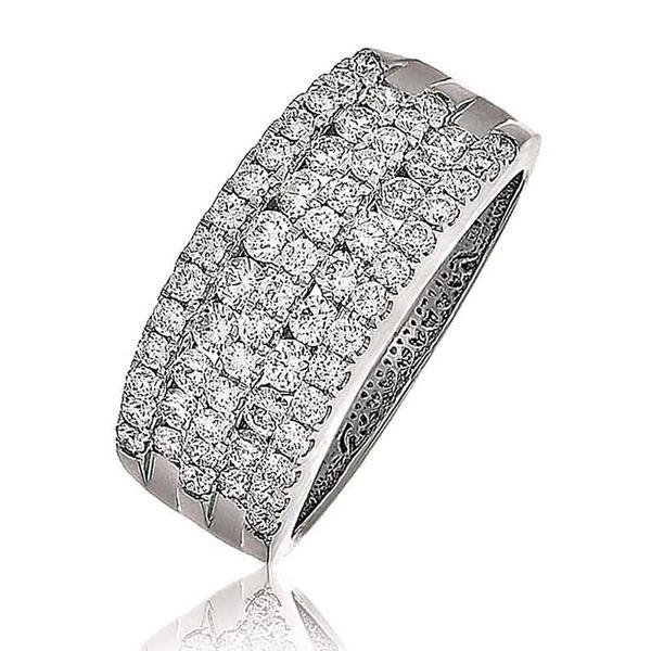 Diamond Channel Set Half Eternity Ring 1.15ct 18k White Gold