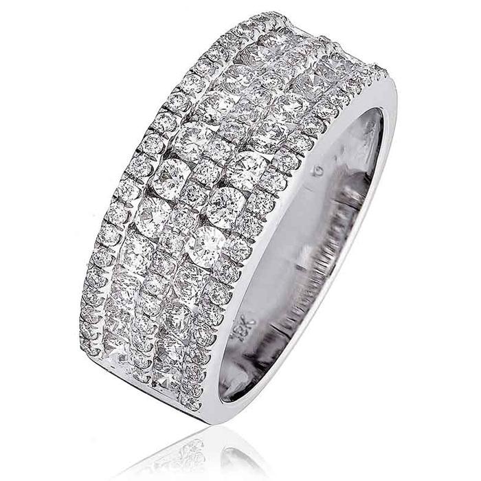 Diamond Channel Set Half Eternity Ring 1.25ct 18k White Gold