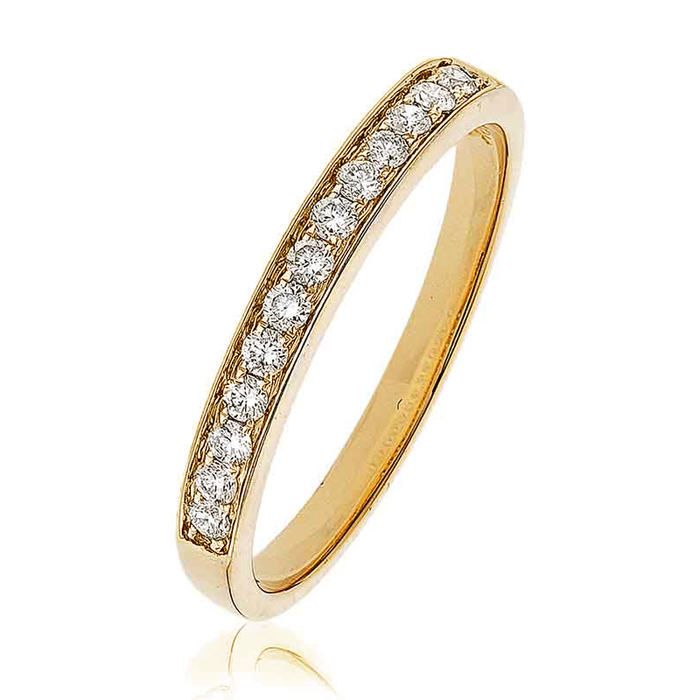 Diamond Half Eternity Ring 0.20ct 18k Gold